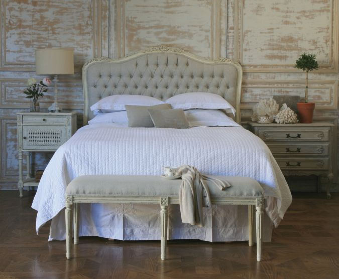 cream and linen beds  simple things blog, Headboard designs