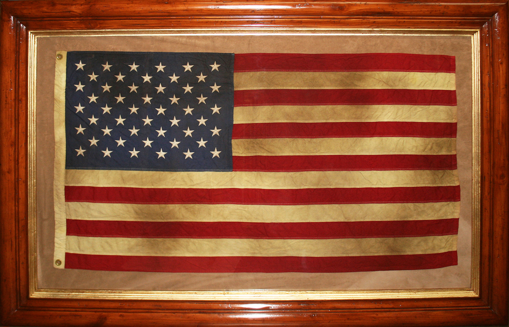 framed american flag | Simple Things Blog