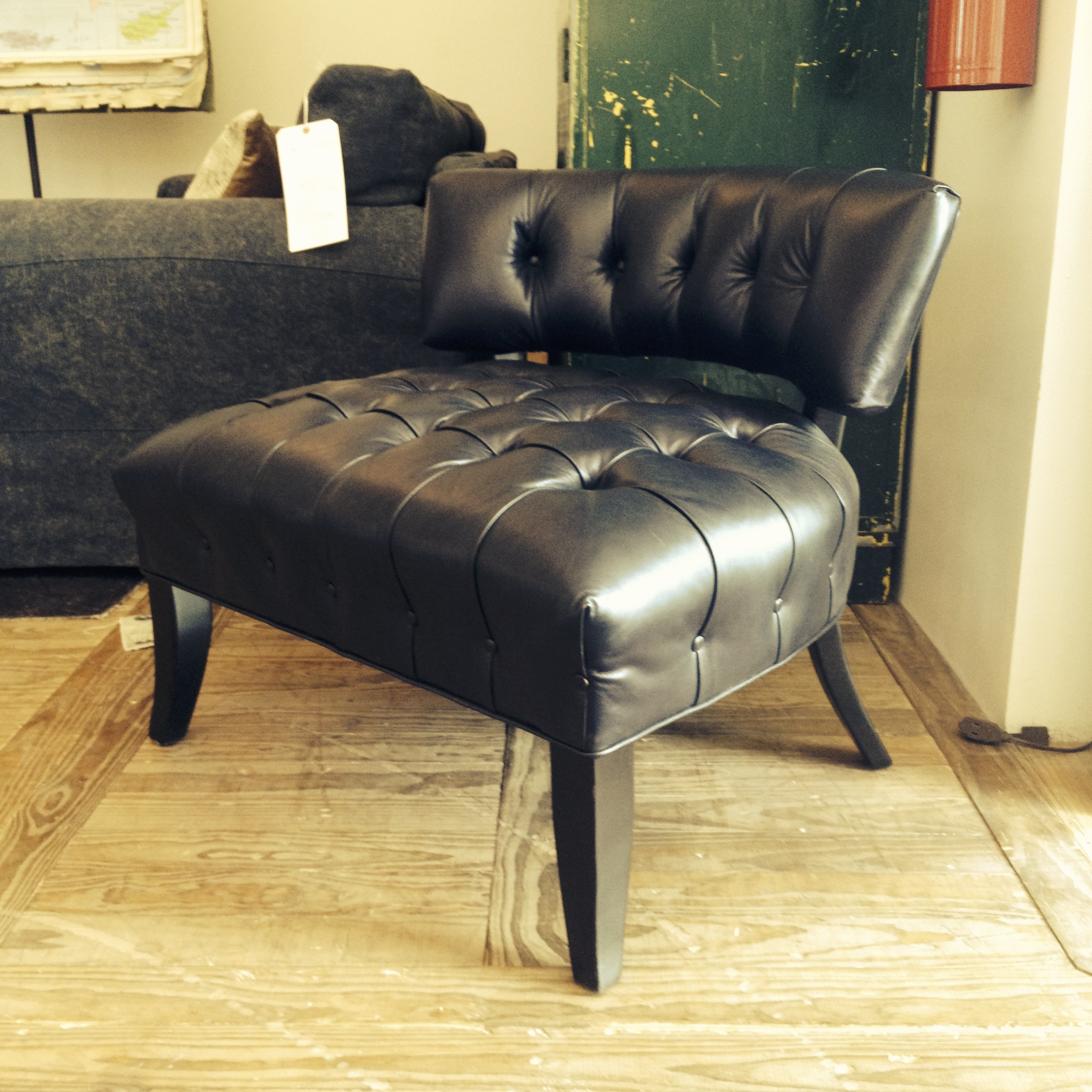 Very comfortable pair of 1950s french reclining leather armchairs - Img_0767